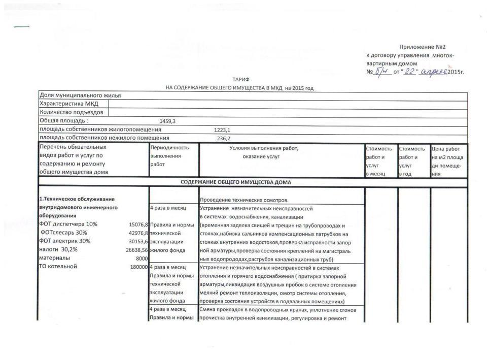 приложение №2 к договору управления стр 1